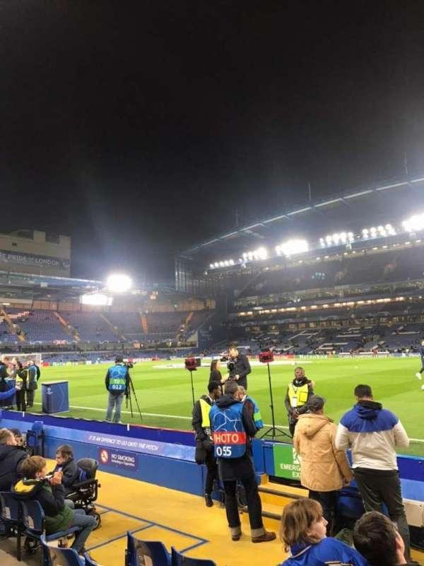 Stamford Bridge, vak: East Stand Lower 6, rij: H, stoel: 173