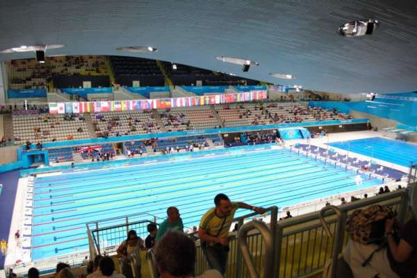 London Aquatics Centre, vak: 313, rij: 21, stoel: 162