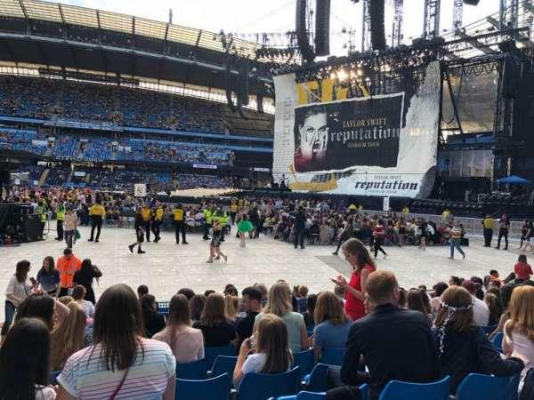 Etihad Stadium (Manchester), vak: 104, rij: K, stoel: 89