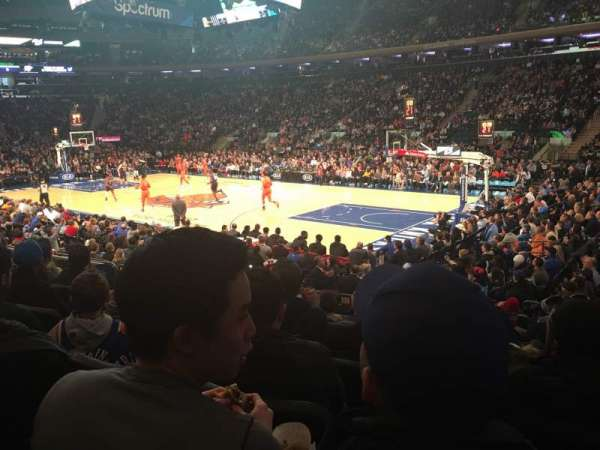 Madison Square Garden, vak: 109, rij: 9, stoel: 13
