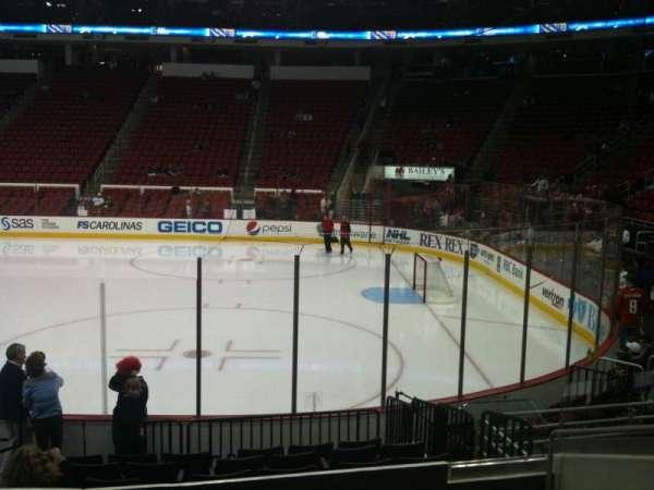 PNC Arena, vak: 101, rij: L, stoel: 3