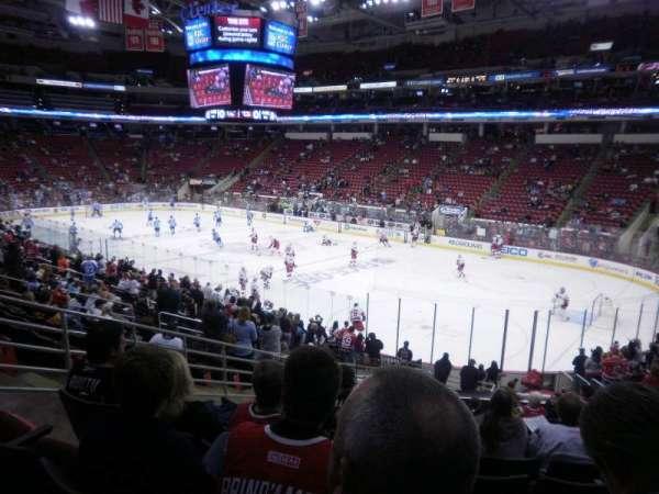PNC Arena, vak: 115, rij: Y, stoel: 13
