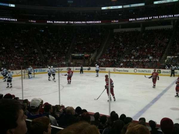 PNC Arena, vak: 120, rij: H, stoel: 1