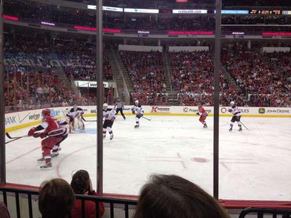 PNC Arena, vak: 107, rij: d, stoel: 4