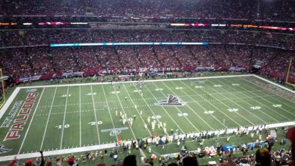 Georgia Dome, vak: 350, rij: 11, stoel: 14