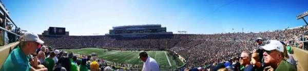 Notre Dame Stadium, vak: 6, rij: 58, stoel: 38