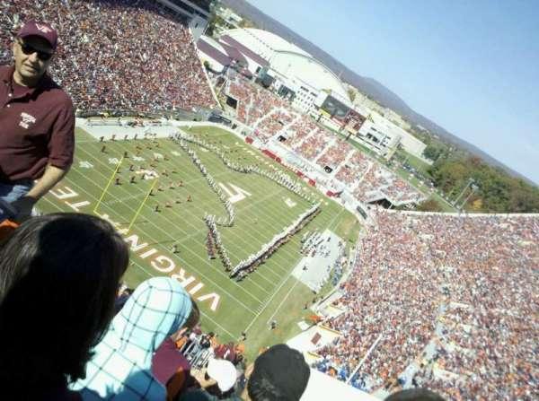 Lane Stadium, vak: 503, rij: DD, stoel: 23