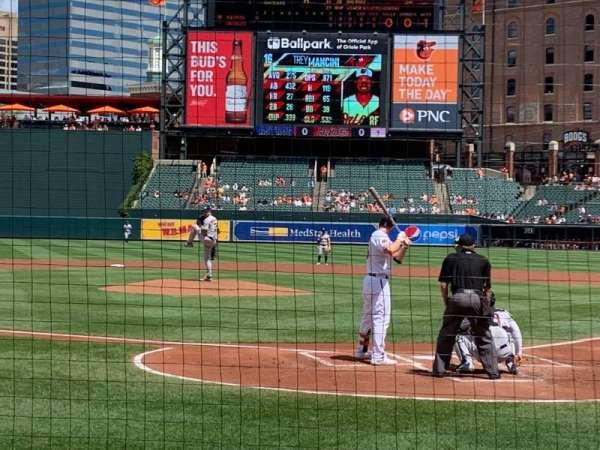 Oriole Park at Camden Yards, vak: 40, rij: 4, stoel: 1