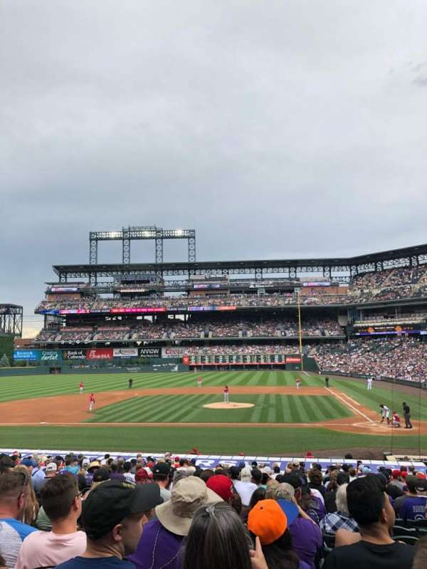 Coors Field, vak: 136, rij: 26, stoel: 8