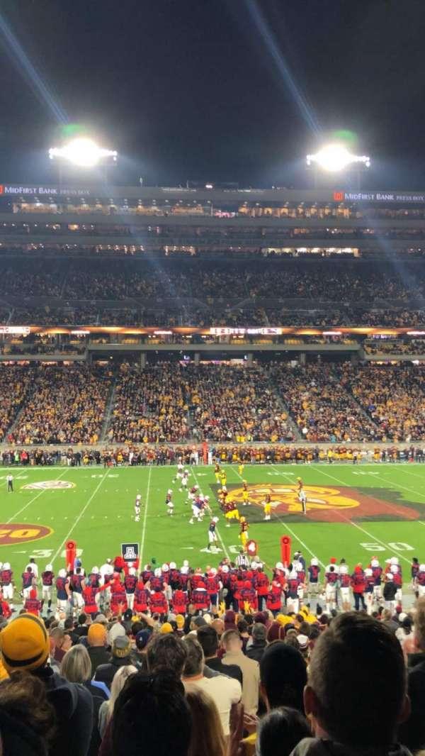 Sun Devil Stadium, vak: 30, rij: 27, stoel: 8