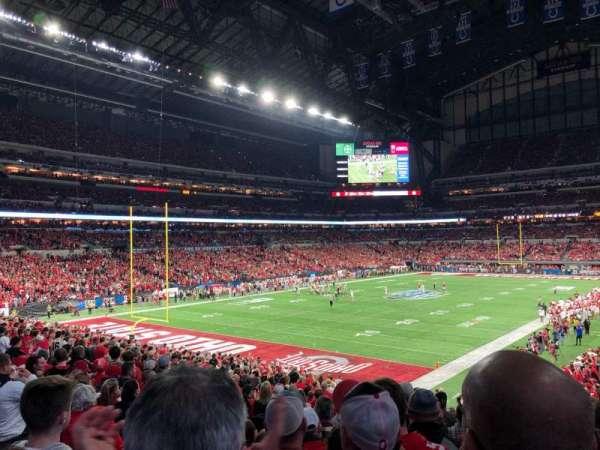 Lucas Oil Stadium, vak: 148, rij: 29N, stoel: 35