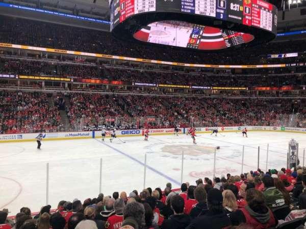 United Center, vak: 113, rij: 12, stoel: 7