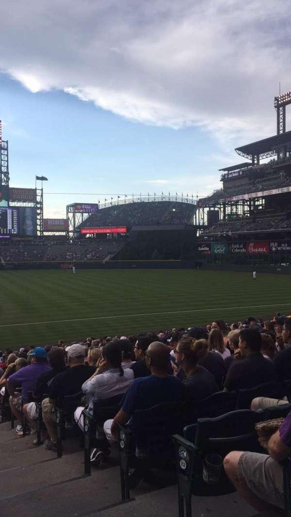 Coors Field, vak: 121, rij: 26, stoel: 1