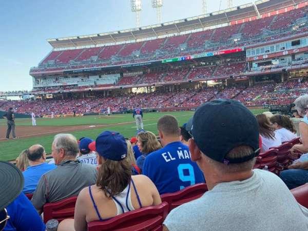 Great American Ball Park, vak: 114, rij: F, stoel: 9