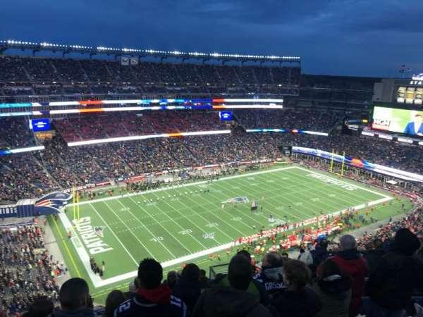 Gillette Stadium, vak: 337, rij: 18, stoel: 8