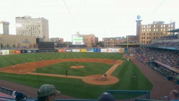 Fifth Third Field, vak: 207, rij: E, stoel: 1
