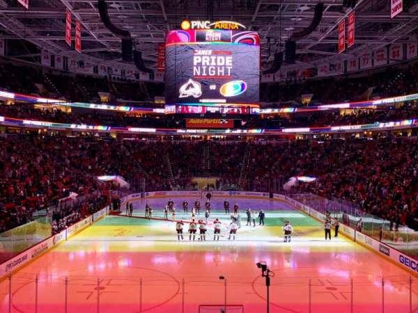 PNC Arena, vak: 127, rij: T, stoel: 1