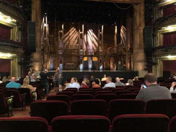 CIBC Theatre, vak: Orchestra C, rij: S, stoel: 102