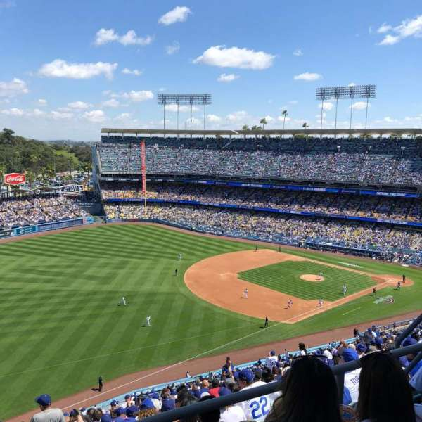 Dodger Stadium, vak: 41RS, rij: CC, stoel: 8