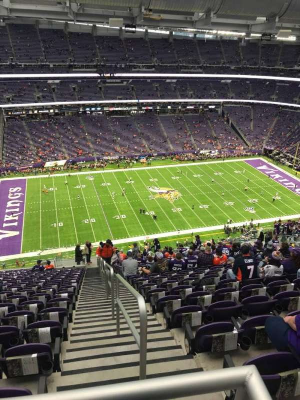 U.S. Bank Stadium, vak: 344, rij: 21, stoel: 1