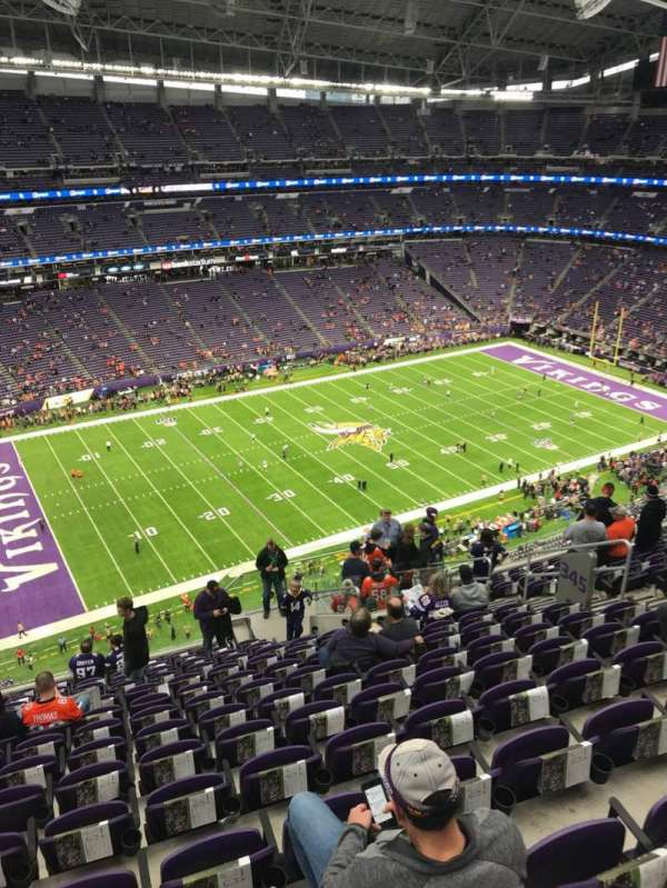 U.S. Bank Stadium, vak: 345, rij: 14, stoel: 11