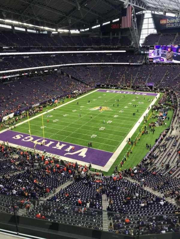 U.S. Bank Stadium, vak: 351, rij: B, stoel: 6