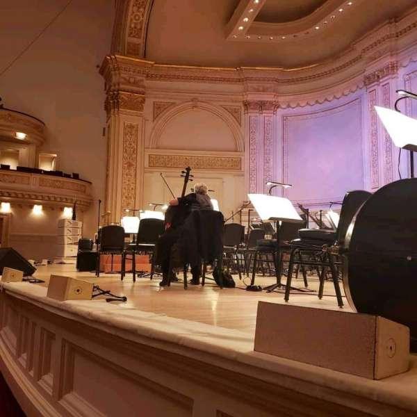 Carnegie Hall, vak: Parquet R, rij: A, stoel: 18
