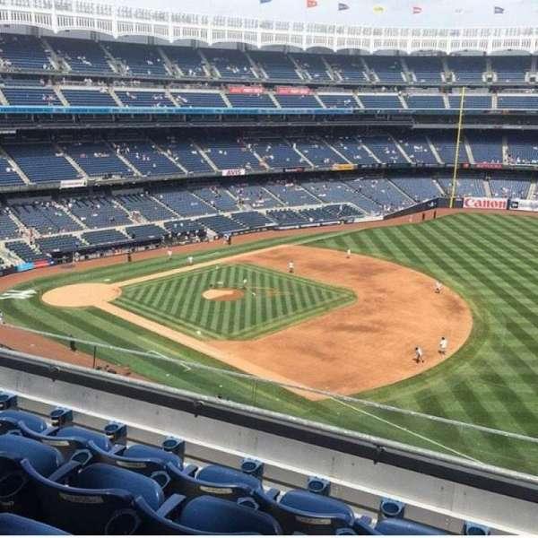 Yankee Stadium, vak: 312, rij: 4