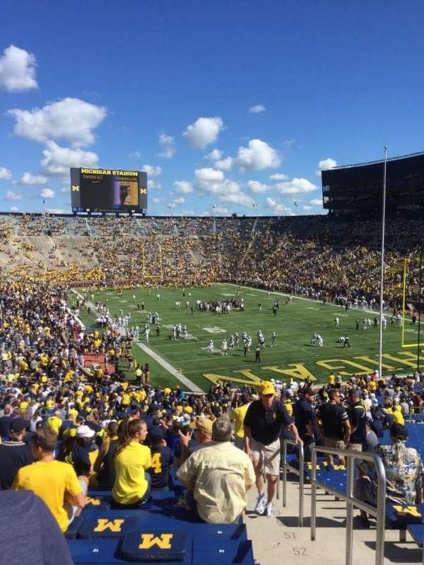 Michigan Stadium, vak: 15, rij: 59, stoel: 15