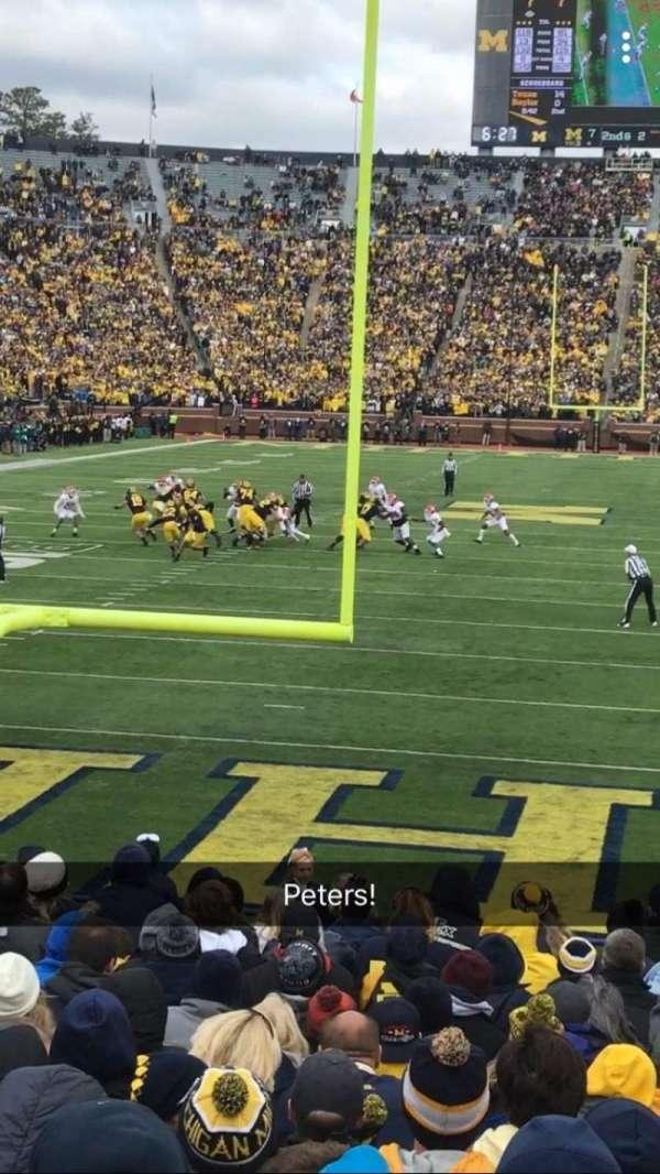 Michigan Stadium, vak: 12, rij: 16, stoel: 24