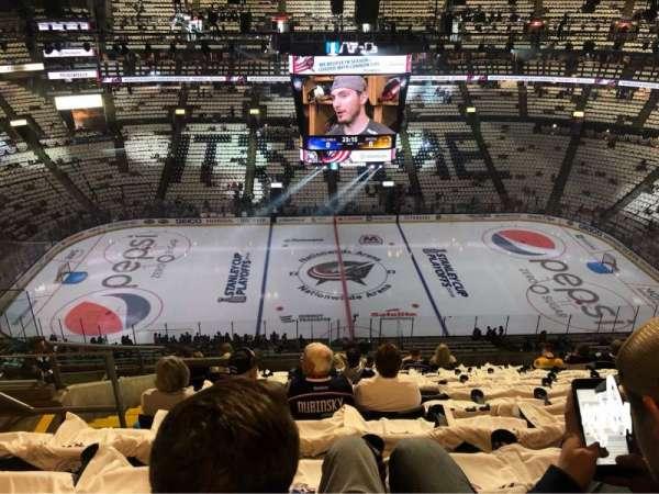 Nationwide Arena, vak: 217, rij: M, stoel: 22