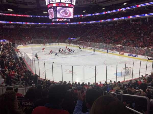 PNC Arena, vak: 129, rij: S, stoel: 1