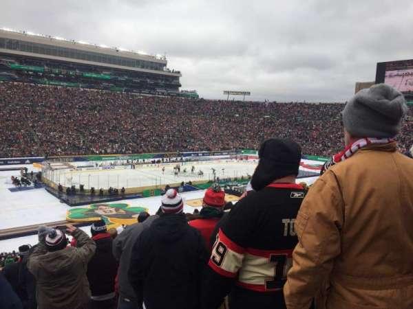 Notre Dame Stadium, vak: 32, rij: 53, stoel: 1