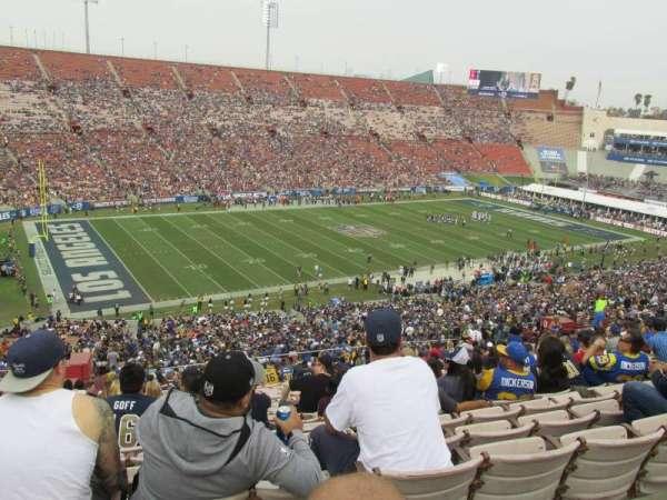 Los Angeles Memorial Coliseum, vak: 10H, rij: 70, stoel: 103