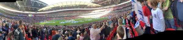 Wembley Stadium, vak: 122, rij: 22, stoel: 318