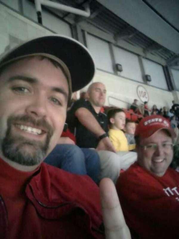 PNC Arena, vak: 302, rij: H, stoel: 15