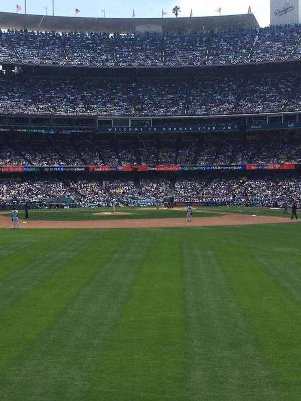 Dodger Stadium, vak: 307PL, rij: D, stoel: 7