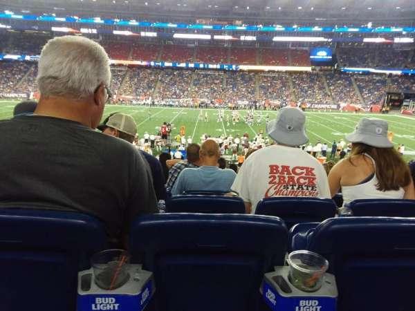 Gillette Stadium, vak: 131, rij: 26, stoel: 10