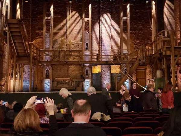 CIBC Theatre, vak: Orchestra C, rij: M, stoel: 107
