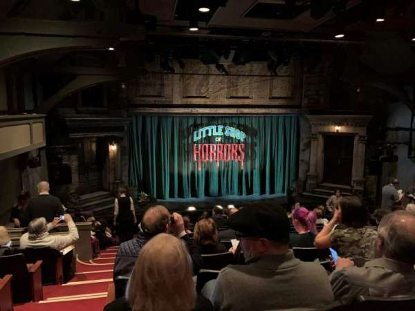 Westside Theatre, vak: Orchestra C, rij: P, stoel: 112