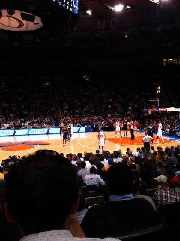 Madison Square Garden, vak: 117, rij: 6, stoel: 12