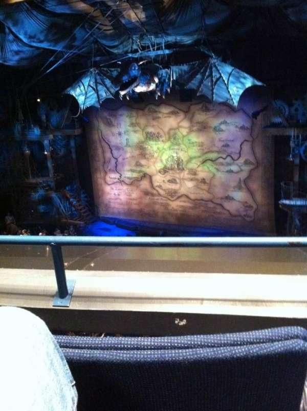 Gershwin Theatre, vak: FMezz, rij: B, stoel: 10