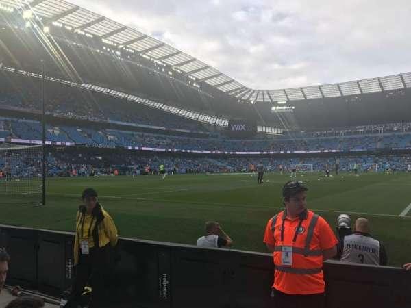 Etihad Stadium (Manchester), vak: 114, rij: 3, stoel: 361