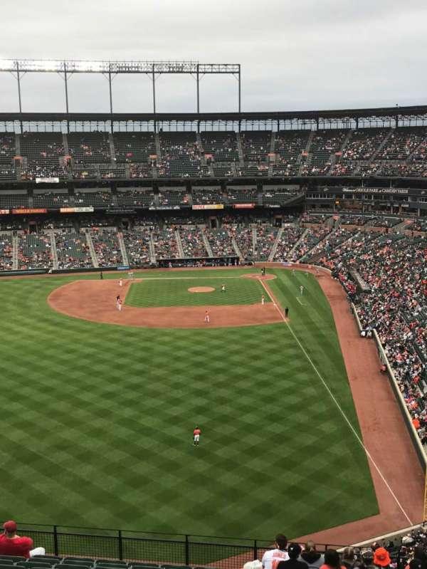 Oriole Park at Camden Yards, vak: 382, rij: 13, stoel: 5