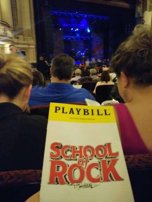 Boston Opera House, vak: Ochestra Left, rij: R, stoel: 33