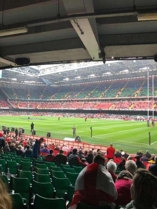 Principality Stadium, vak: L25, rij: 21, stoel: 6
