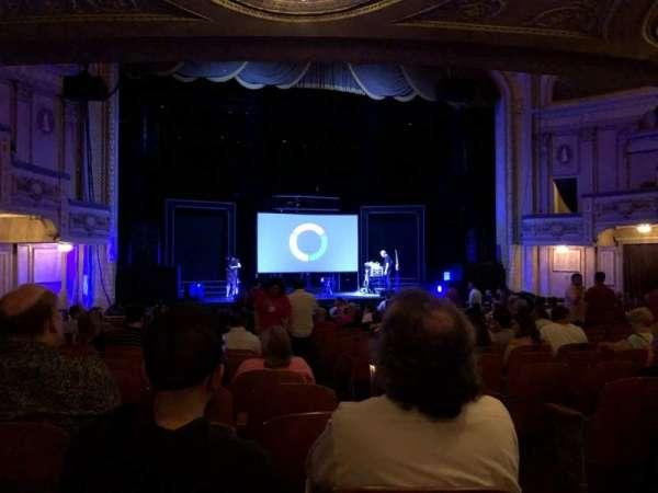 Merriam Theater, vak: Orch L, rij: S, stoel: 3
