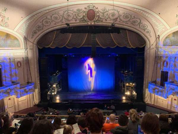 Merriam Theater, vak: BALC, rij: F, stoel: 106