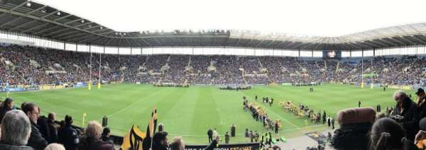 Ricoh Arena, vak: West Stand Block B, rij: W, stoel: 9