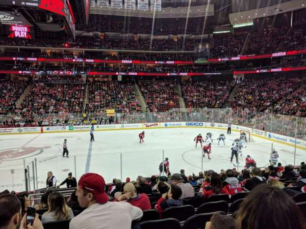 Prudential Center, vak: 20, rij: 16, stoel: 15